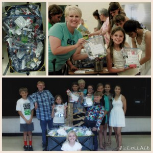 collage of youth preparing emergency kits for the homeless