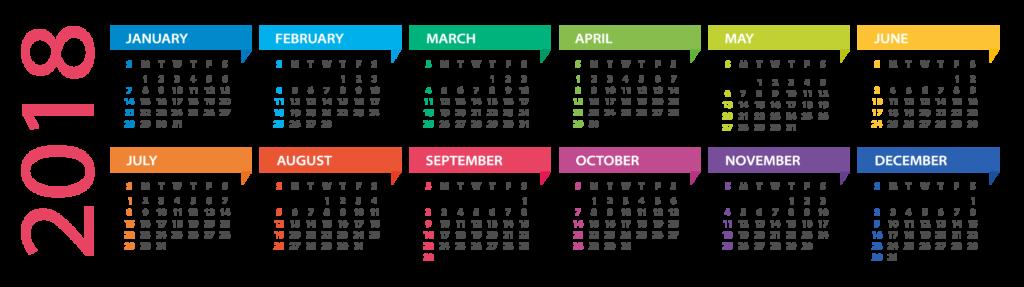 2018 calendar@0.5x